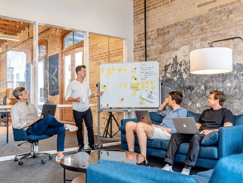 Meeting at a web design agency