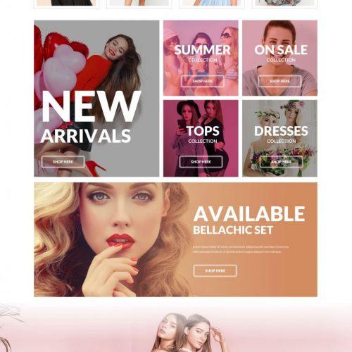 bella chic boutique screenshot