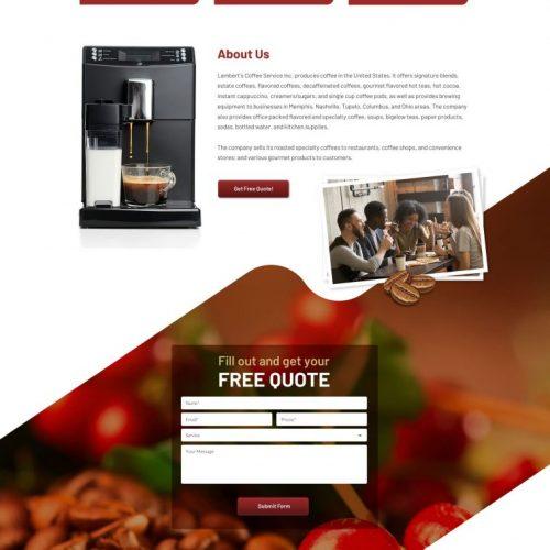lamberts coffee screenshot